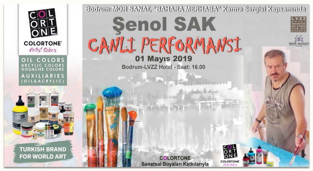 ŞENOL SAK, Acrylic Painting LIVE PERFORMANCE, Bodrum-2019